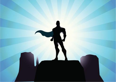 Mighty Superhero Silhouette