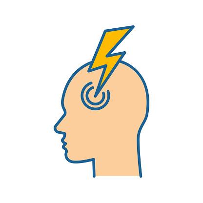 Migraine color icon