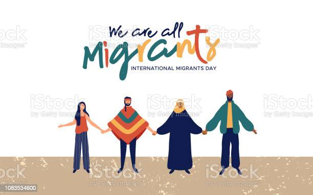 Migrants day diverse people group concept vector id1083534600?b=1&k=6&m=1083534600&s=612x612&h=ogc7rlb8oe5knvq3k 3mm1maqbfbsnqclxa2tizuqmo=