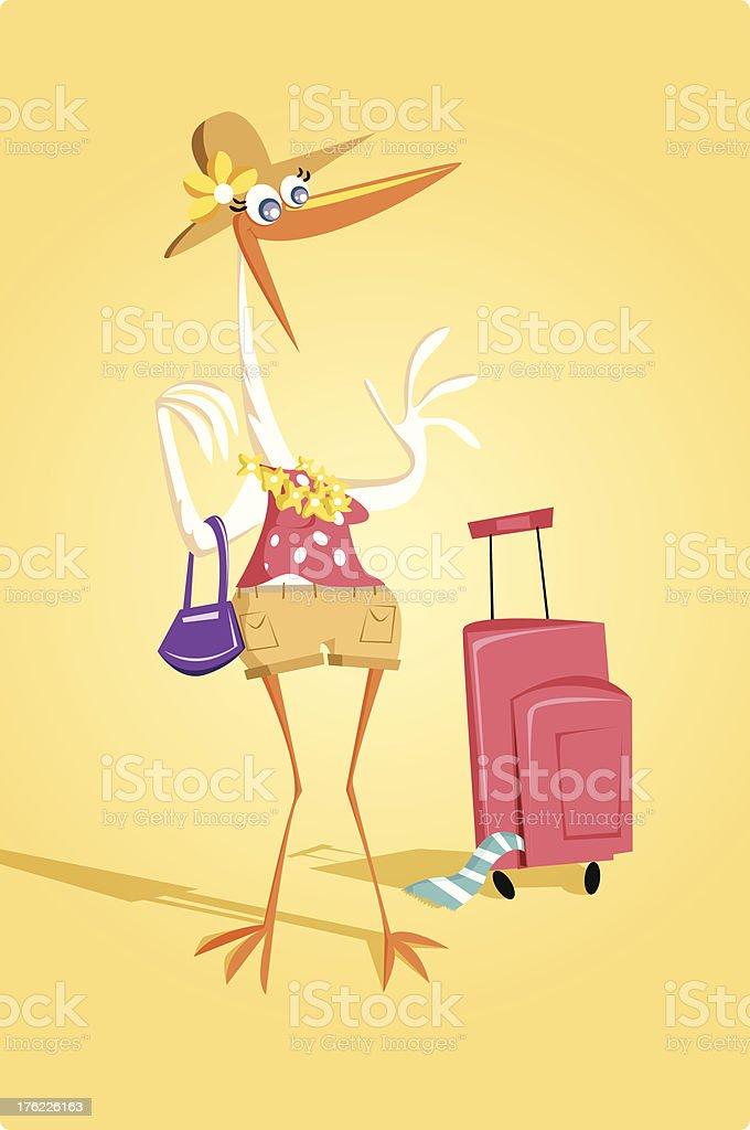 Migratory Bird vector art illustration