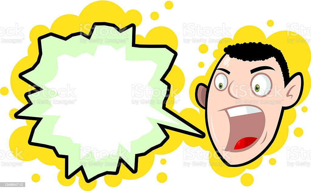 Mike's Moaning Again royalty-free stock vector art