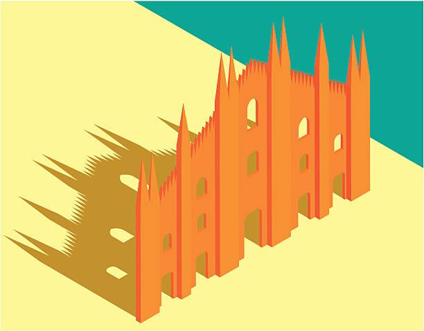 illustrazioni stock, clip art, cartoni animati e icone di tendenza di cattedrale di milano - milan