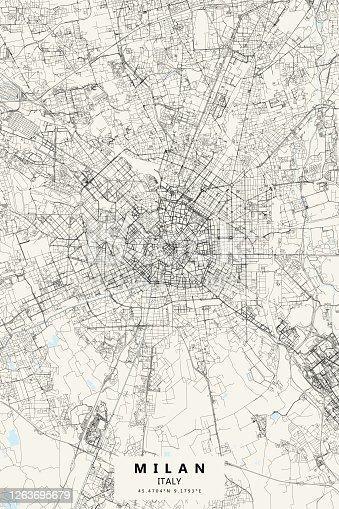 istock Milan, Italy Vector Map 1263695679