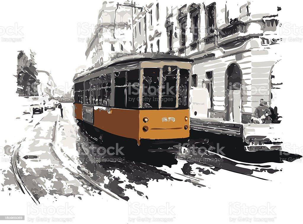 Milan royalty-free stock vector art