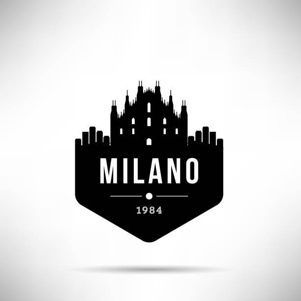illustrazioni stock, clip art, cartoni animati e icone di tendenza di milano city modern skyline vector template - milan