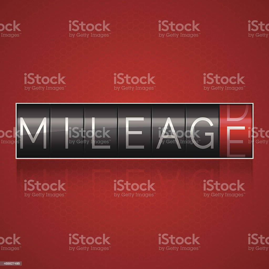 Mileage Odometer vector art illustration