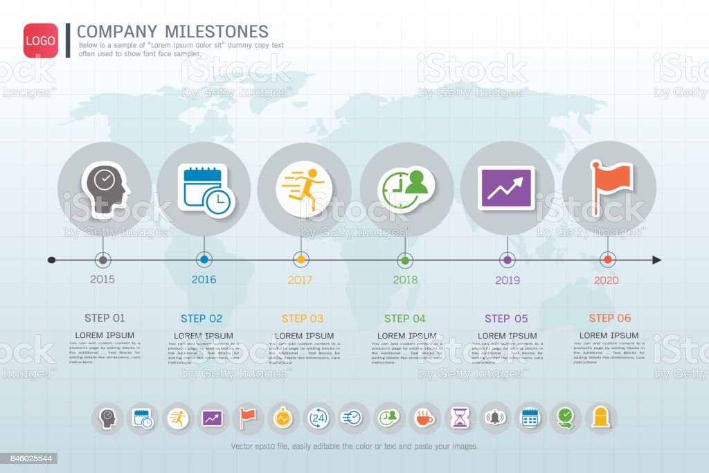 Milestone Timeline Infographic Design Road Map Or Strategic Plan To on company mission, company leadership, company registration, company goals, strategy map, company gardens map, company resources, company management, company department map, company art,