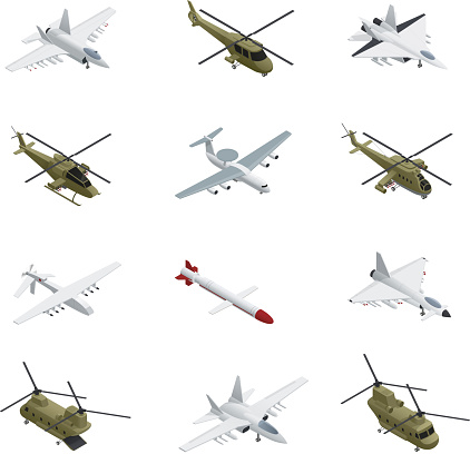military air force isometric