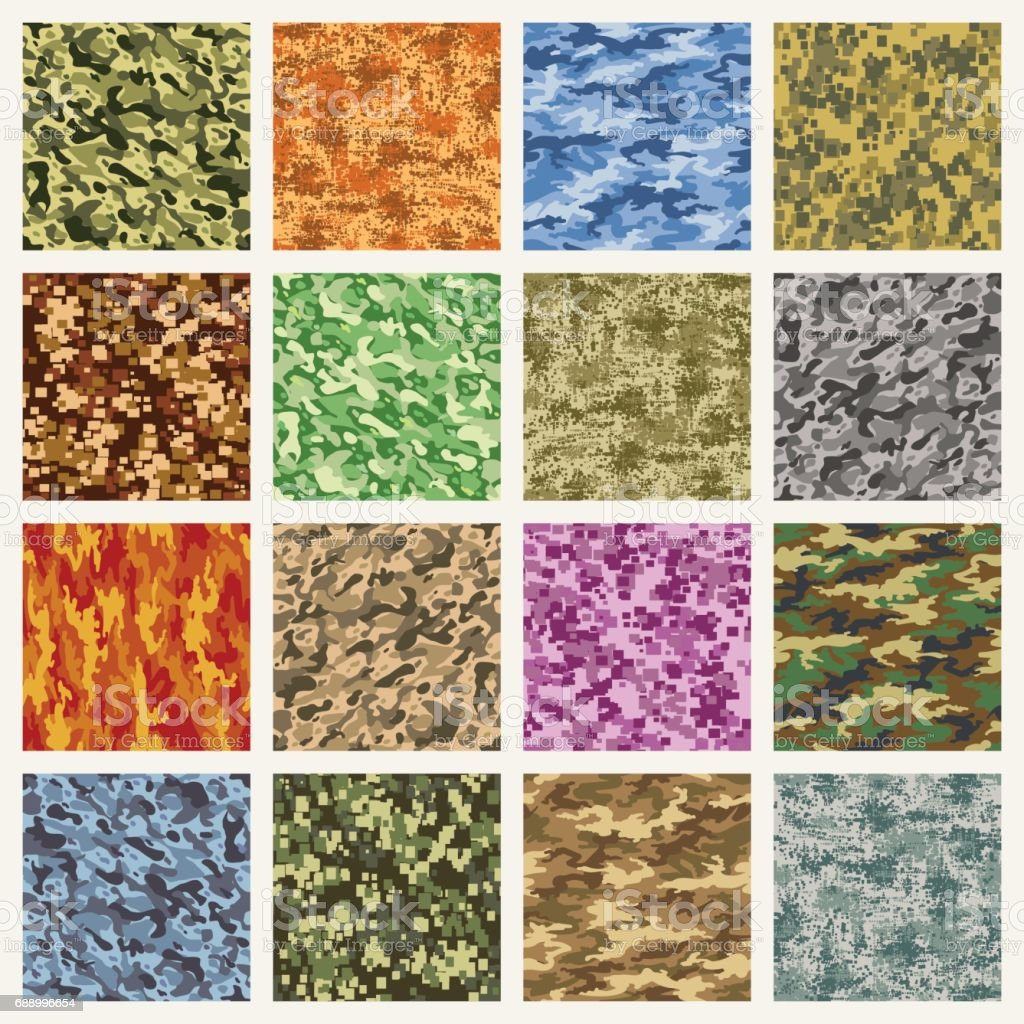 Military and marine uniform camouflage patterns