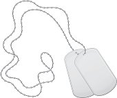 Military Armed Forces Dog Tags