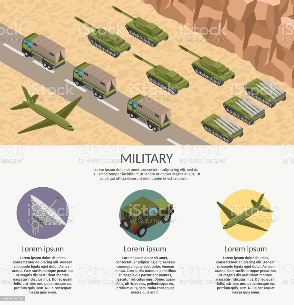 Military army low poly of base background vector art illustration