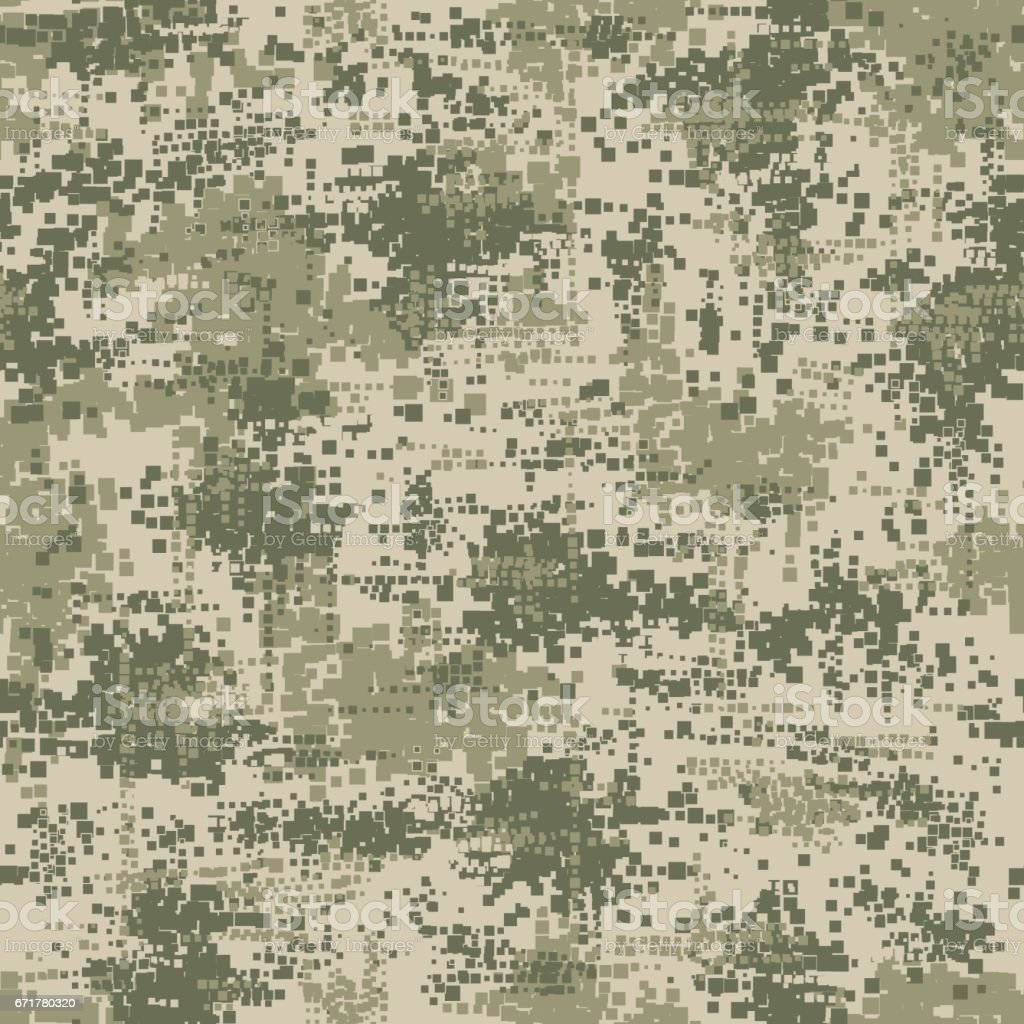 Military army uniform pixel seamless pattern vector art illustration