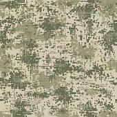 Military army uniform pixel seamless pattern