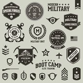 Military badges and symbols