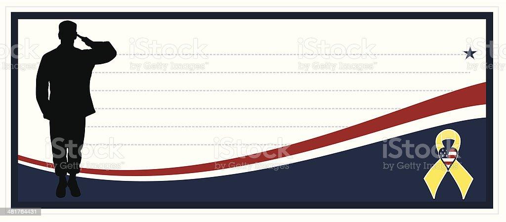 Military Banner royalty-free stock vector art