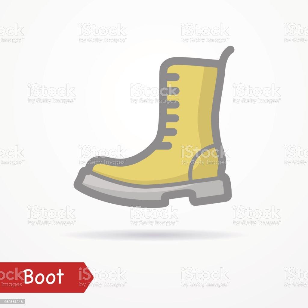 Military boot vector icon military boot vector icon - immagini vettoriali stock e altre immagini di abbigliamento royalty-free
