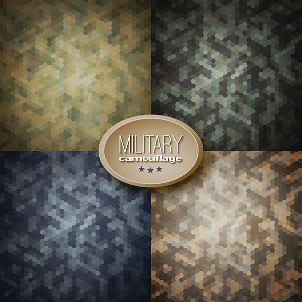 Militärische Tarnung Hintergrund (Dschungel, Wald, Blaubeeren, – Vektorgrafik