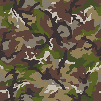military camouflage forest seamless