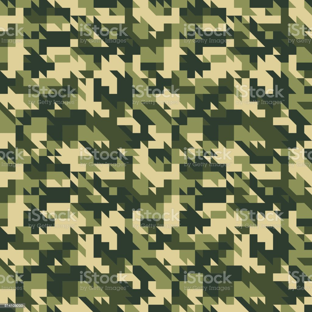 Military camouflage seamless pattern. vector art illustration