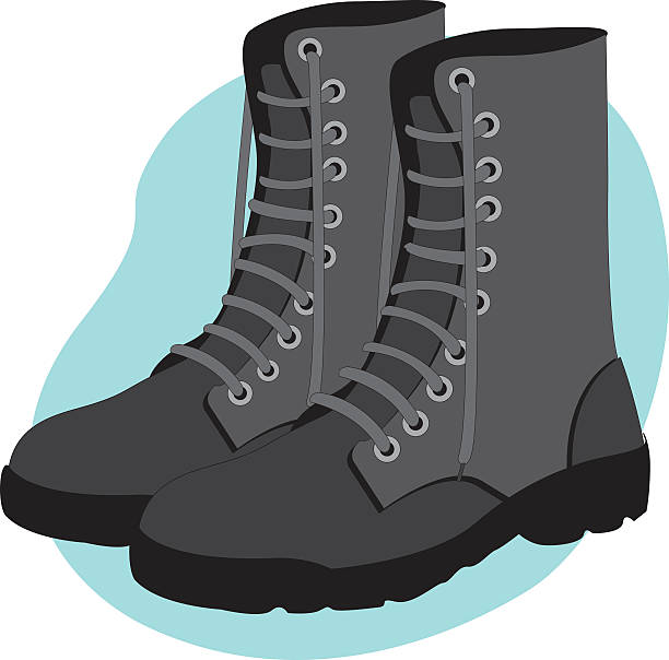military combat boots safety equipment - postal worker stock illustrations