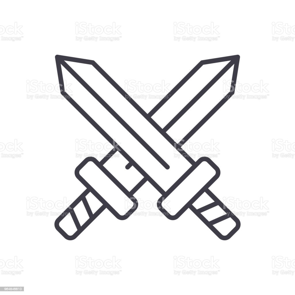 Military confrontation black icon concept. Military confrontation flat  vector symbol, sign, illustration. royalty-free military confrontation black icon concept military confrontation flat vector symbol sign illustration stock vector art & more images of anger