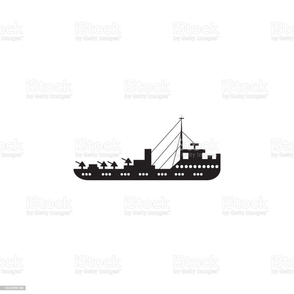 Military Cruiser Icon Element Of Ship Illustration Premium Quality