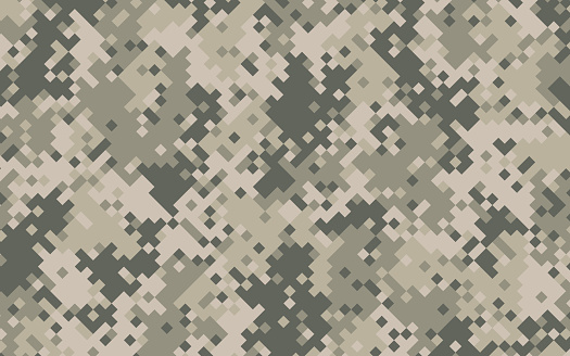 Military Digital Pixel Camouflage Background Pattern