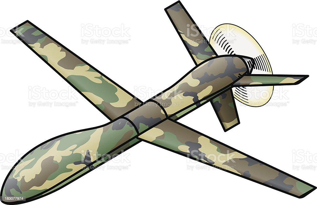 Military Drone Royalty Free Stock Vector Art