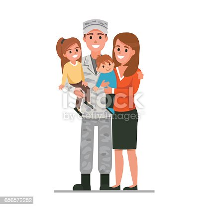 istock Military family 656572282
