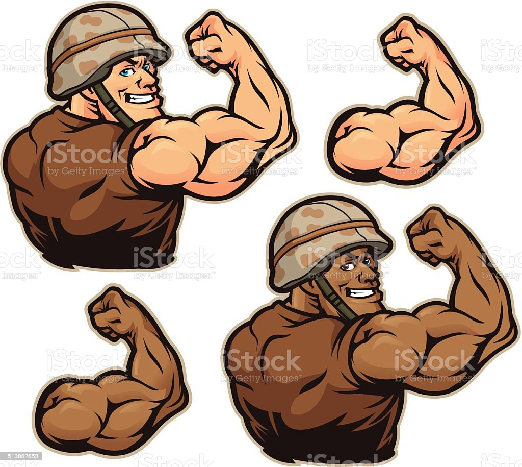 Military Flex Kit vector art illustration