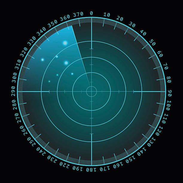 military green radar screen with target. futuristic hud interface. stock - radar stock illustrations