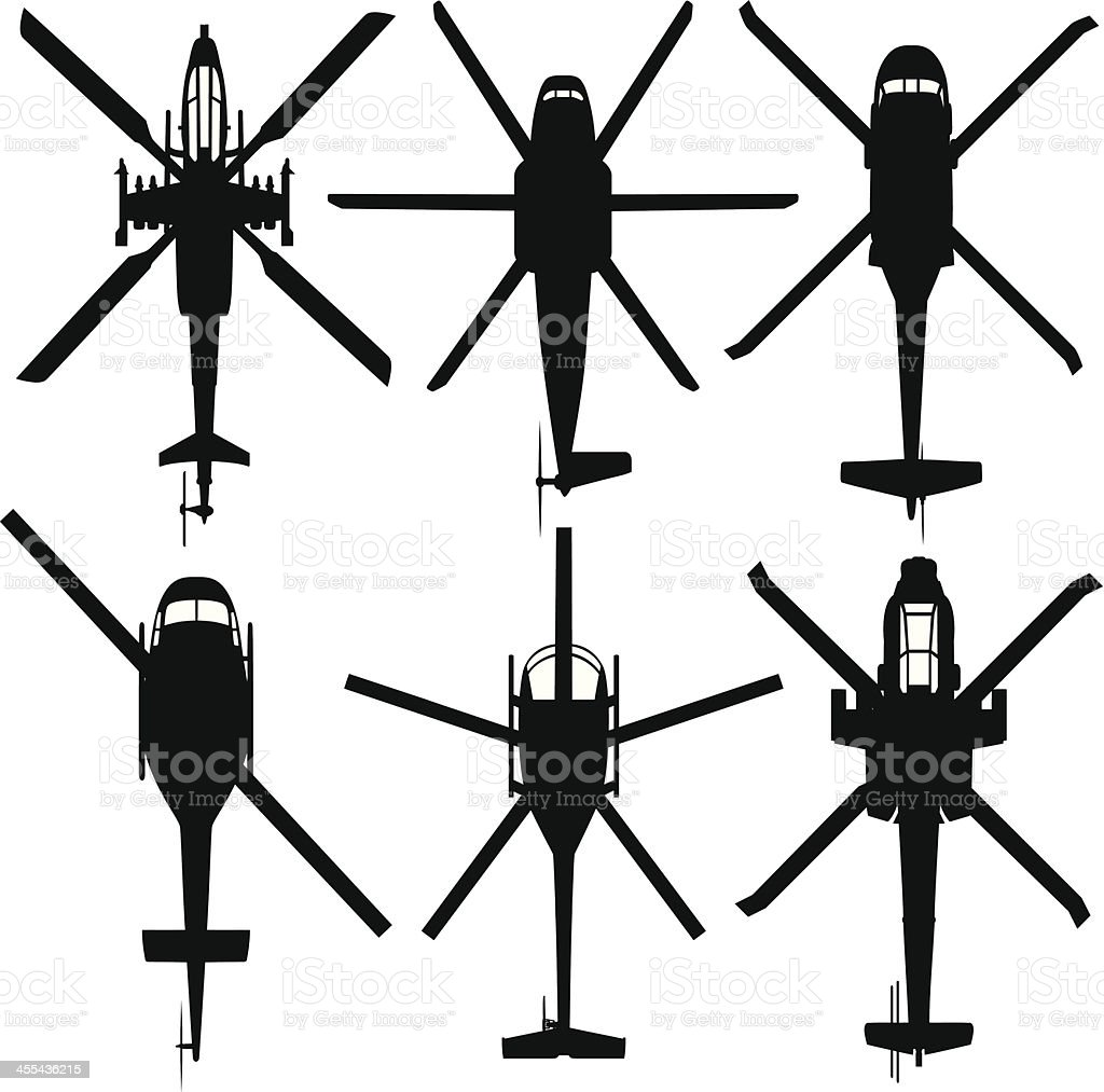 Military Helicopters vector art illustration