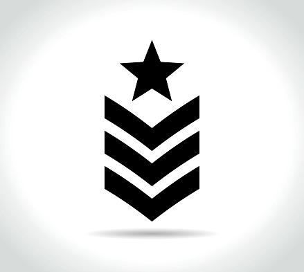 military icon on white background