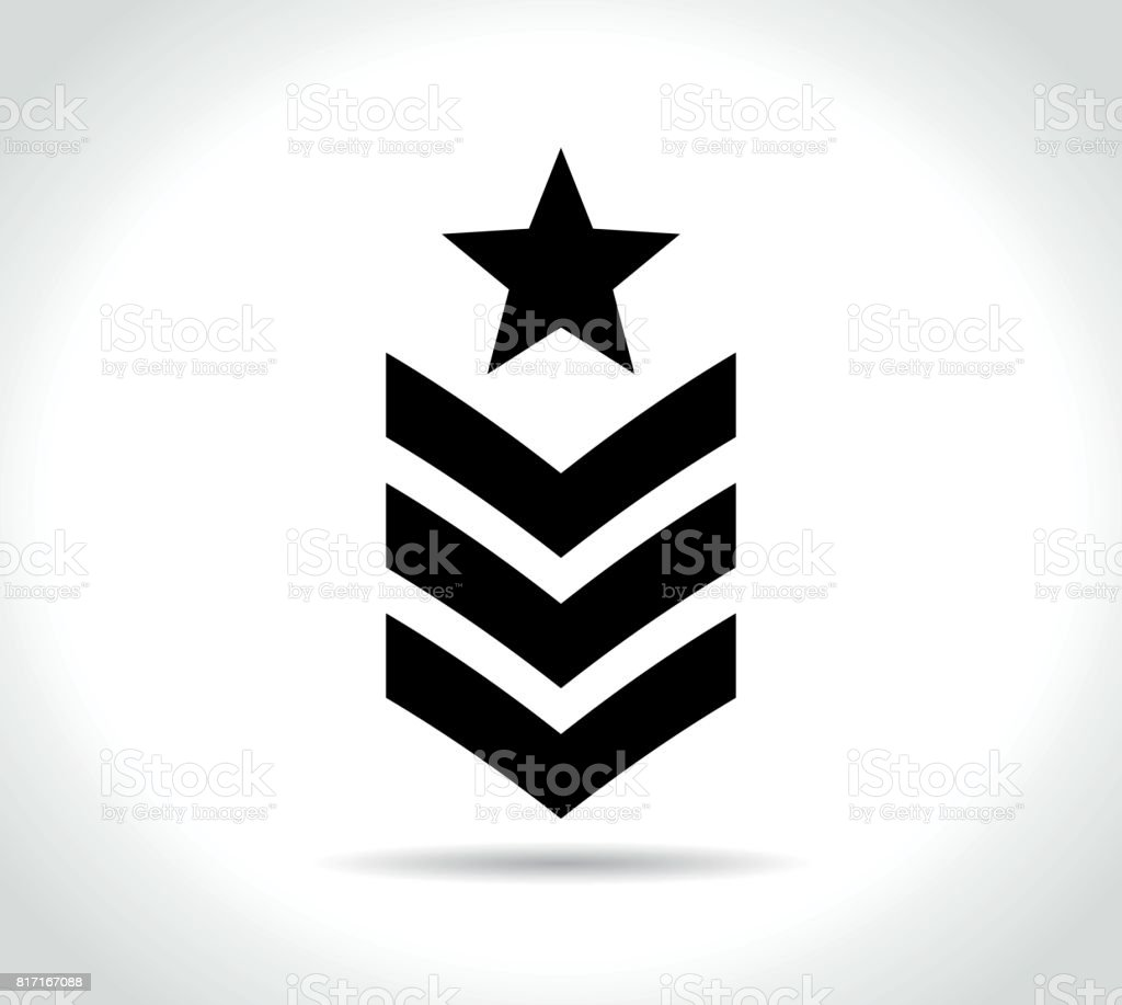 military icon on white background vector art illustration