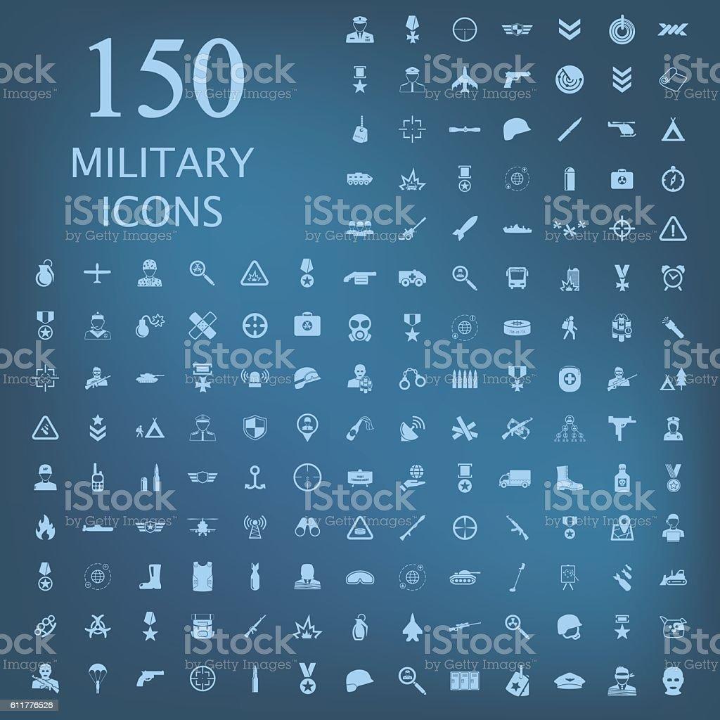 Military icon set icon vector art illustration