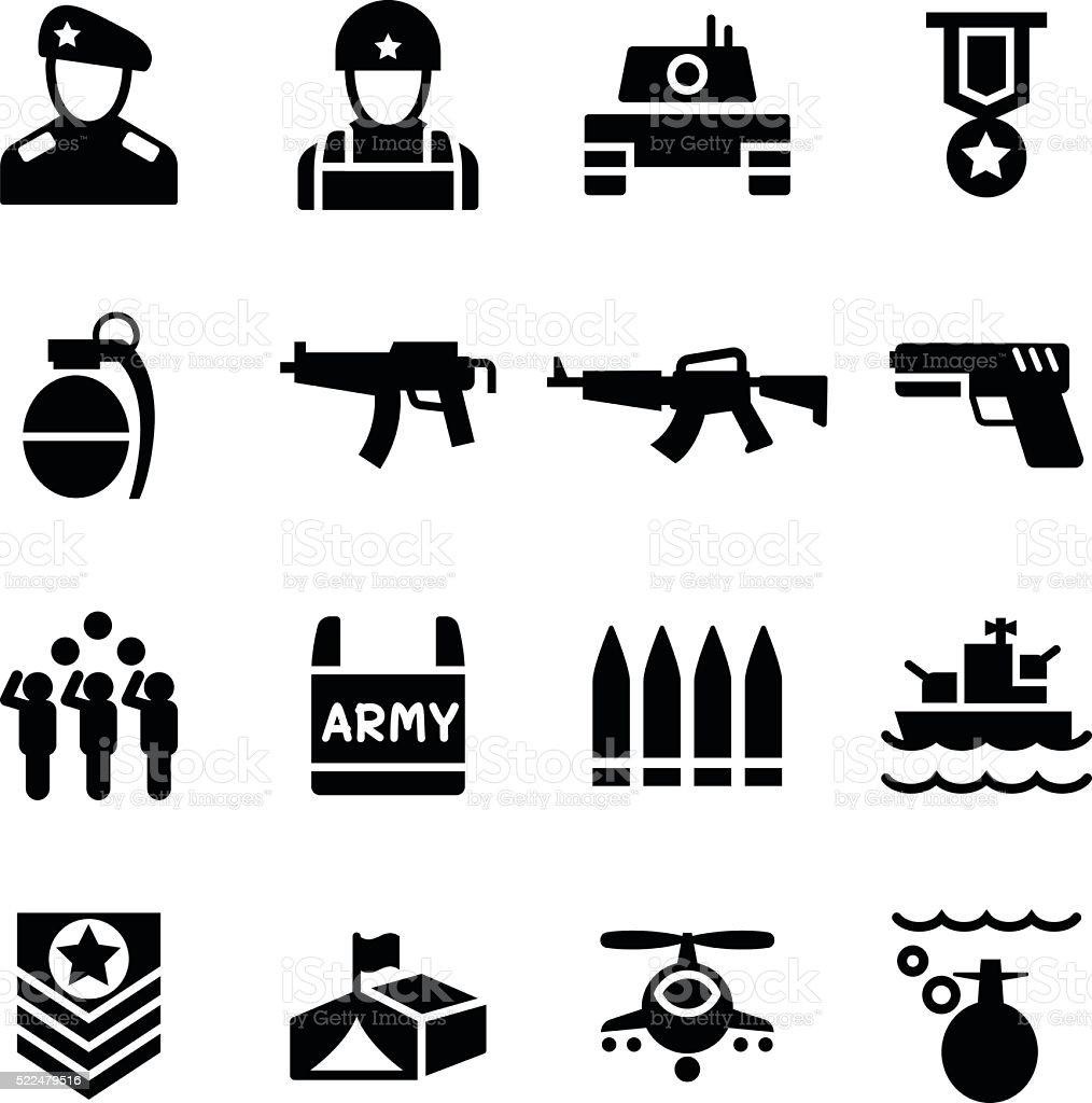 Military icon vector art illustration