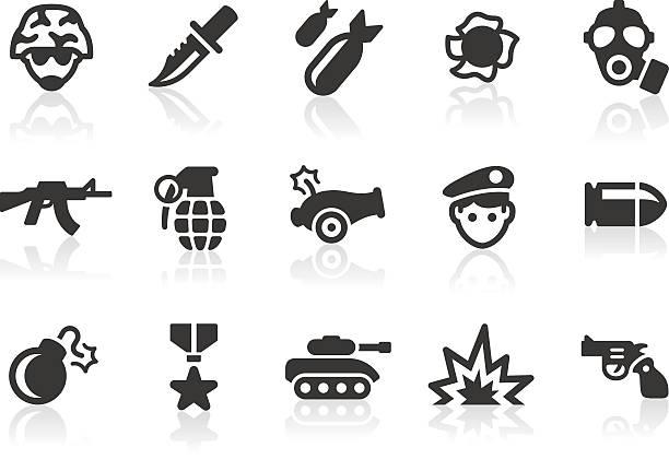 bildbanksillustrationer, clip art samt tecknat material och ikoner med military icons - krig