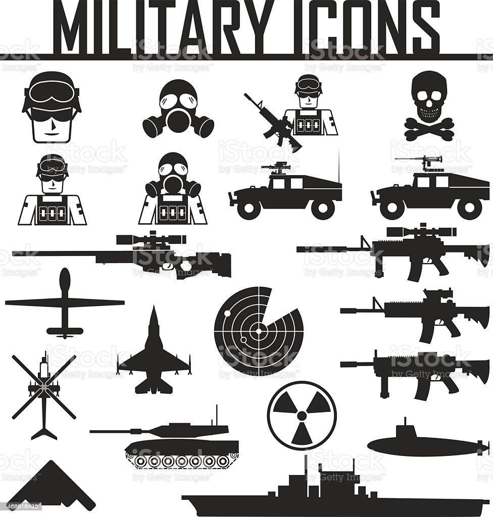 Military Icons Vector Illustration Eps 10 Stock Vector Art ...