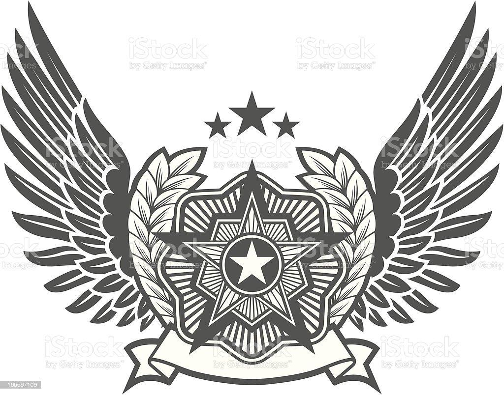 Insignias militares ilustración de insignias militares y más banco de imágenes de corona de laurel libre de derechos