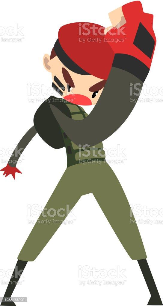 Ilustración de Hombre Militar De Lucha Carácter De Soldado En Vector ... bdffd775988