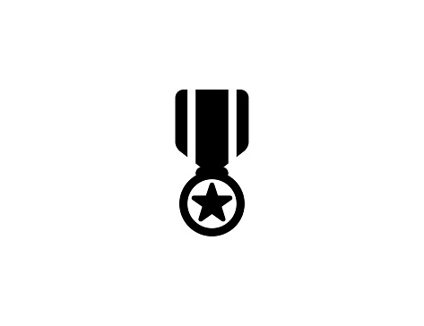 Military Medal icon. Isolated Military Medal symbol - vector