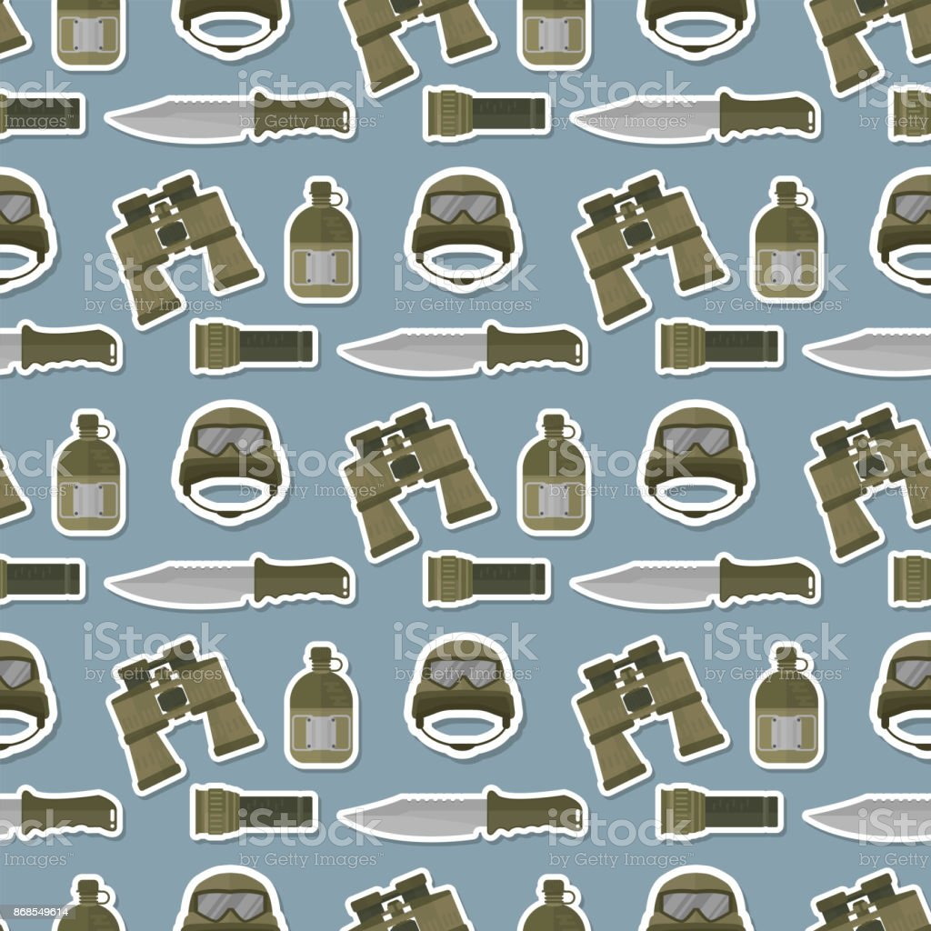 Ilustración De Militar Camuflaje Moderno Casco Ejército