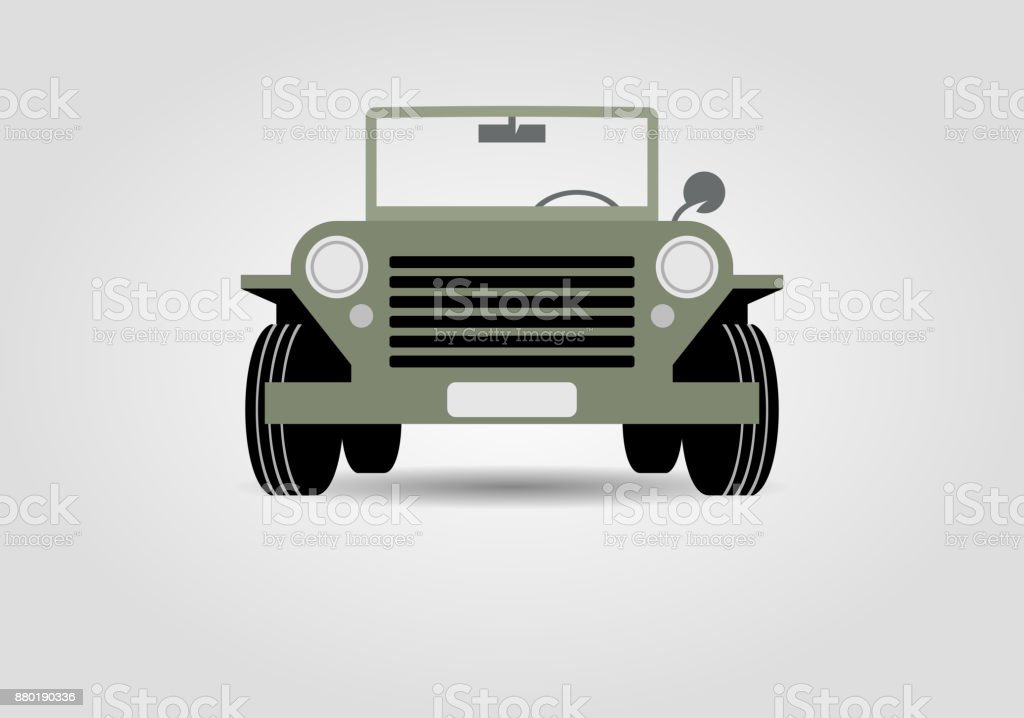 Military off-road car vector art illustration