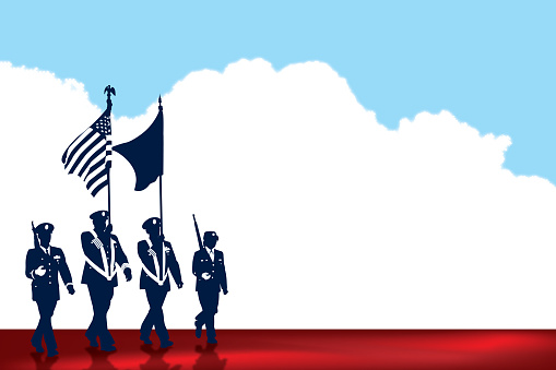 US Military Parade Background, Holiday
