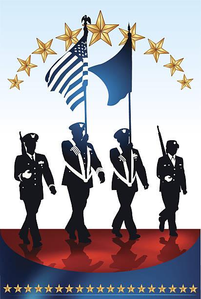 Best Veterans Day Parade Illustrations, Royalty-Free ...