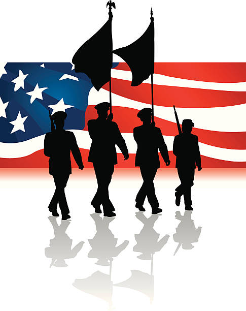 Royalty Free Group Of Veterans Clip Art, Vector Images ...
