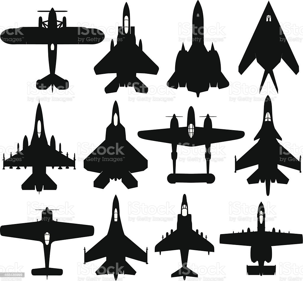 Military Planes vector art illustration