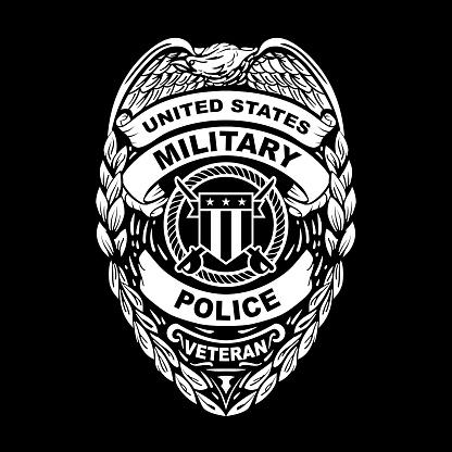 U.S. Military Police Veteran Badge Vector Illustration