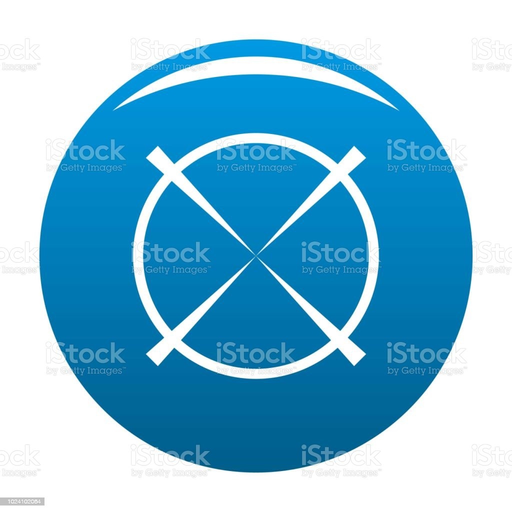 Militärische Radar Icon Blau Vektor Stock Vektor Art Und Mehr Bilder