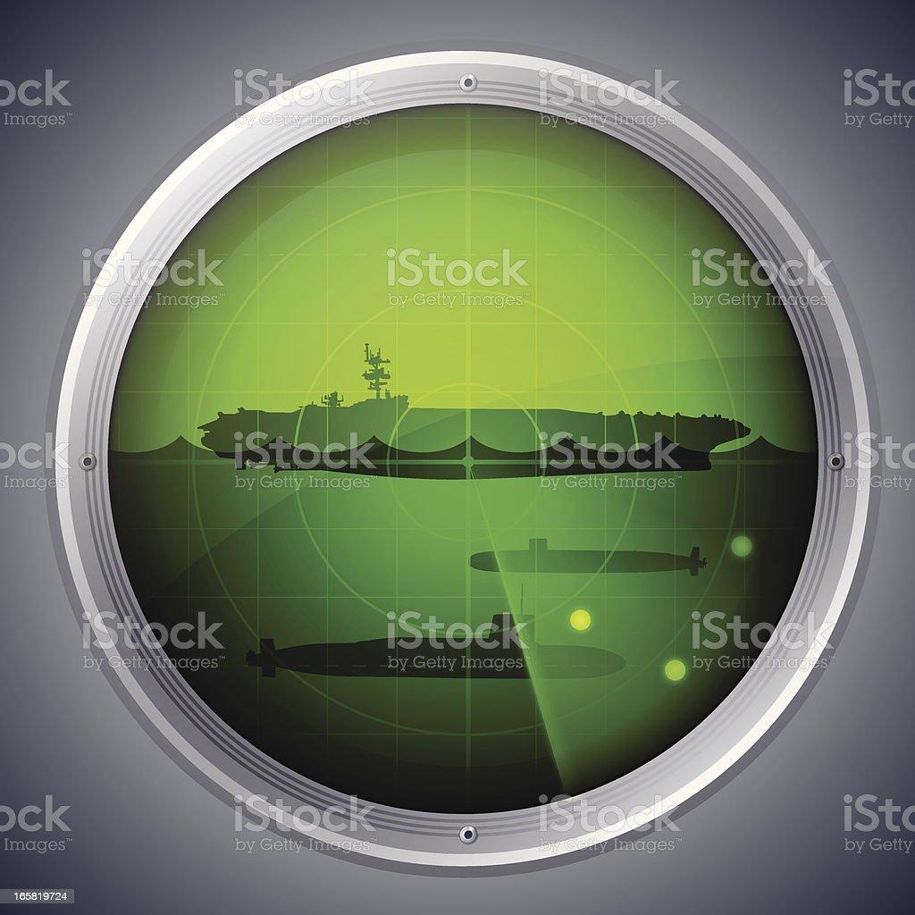 Military Radar vector art illustration
